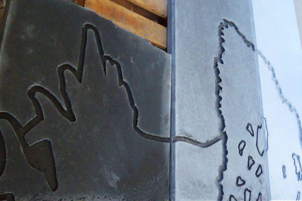 Mural en construcción